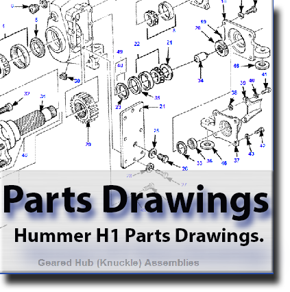 hummer h1 geared hub assembly